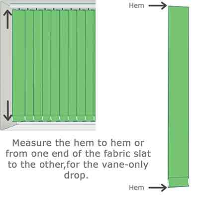 Vertical slats measuring guide